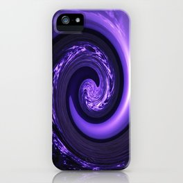 Spiral Vortex Purple G200 iPhone Case