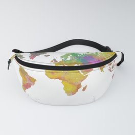 Map of the World - Watercolor 5 Fanny Pack
