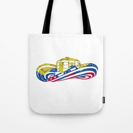 Colombian Sombrero Vueltiao in Colombian Flag Colors Tote Bag