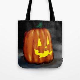 Smiling Pumpkin Tote Bag