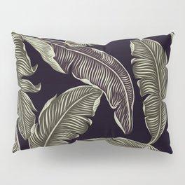 palm leaves black Pillow Sham
