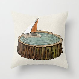 Missed the Boat Throw Pillow
