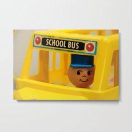 Fisher Price School Bus Metal Print
