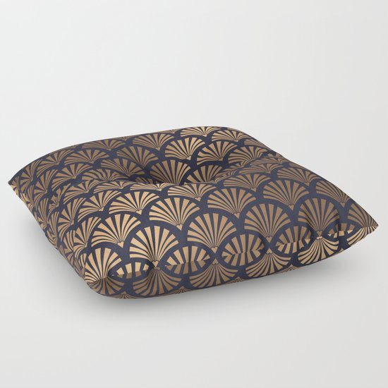Art Deco Shell Pattern Floor Pillow