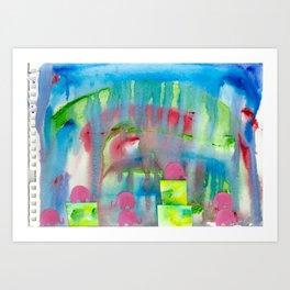 4 Penny the Pink Elephant Art Print