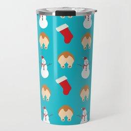 Christmas Corgi Butts Travel Mug