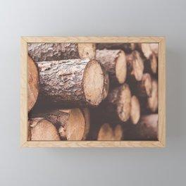 Felled Trees Framed Mini Art Print