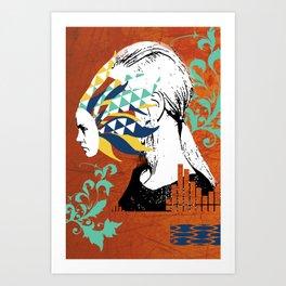 Face Off Art Print