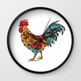 Cockerel. Symbol of 2017 Wall Clock
