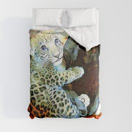 Big Cat Companions: Leopard & Black Panther Cubs 01-02 Comforters