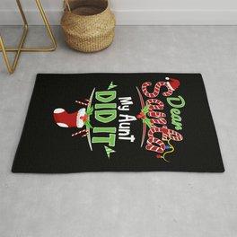 Dear Santa My Aunt Did It Xmas Funny Christmas Rug