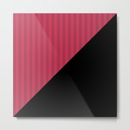 Black , red , triangles Metal Print