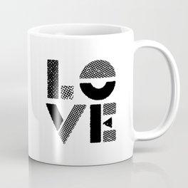 LOVE black-white contemporary minimalist vintage typography poster design home wall decor bedroom Coffee Mug