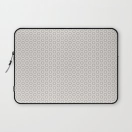 Hexagon Light Gray Pattern Laptop Sleeve