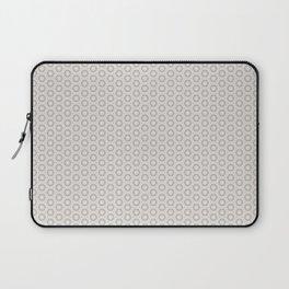 Hexagon Light Gray Pattern Laptop Sleeve