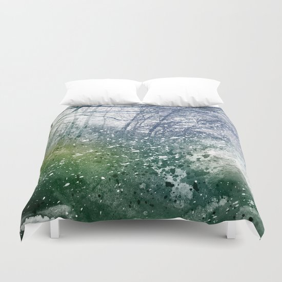 Acrylic Forest Blizzard Duvet Cover