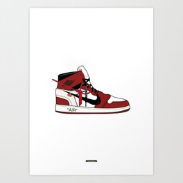 Jordan I x Off White Art Print
