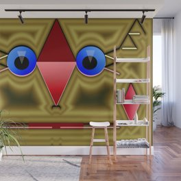 Golden rednose mask Wall Mural