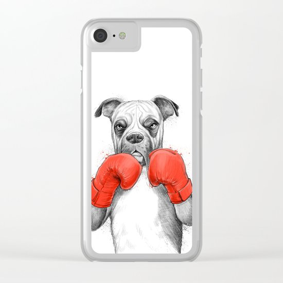 boxer Clear iPhone Case