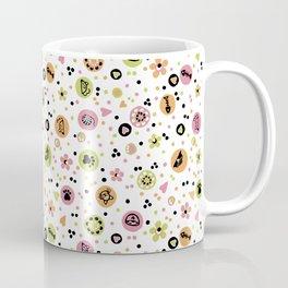 I love Cats - Cat Lovers Heart Flower Meadow - Pink & Spring Green Feline Meow Coffee Mug