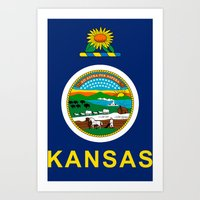 kansas Art Prints featuring KANSAS by changsaw