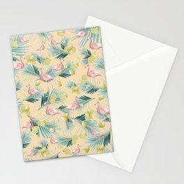 Flamingo Palm Lemon Summer Vibes #1 #pastel #tropical #decor #art #society6 Stationery Cards