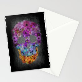 Sugar Skull Made Of Flowers Stationery Cards