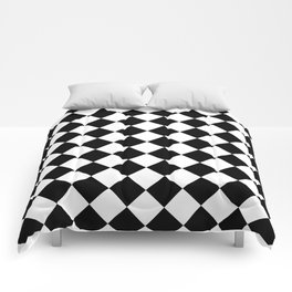 Contemporary Black & White Gingham Pattern - Mix and Match Comforters
