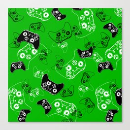 Video Game Green Canvas Print