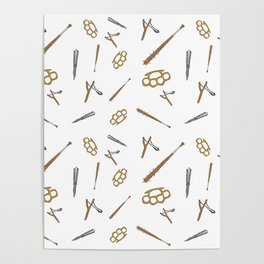 Weapons Pattern Poster