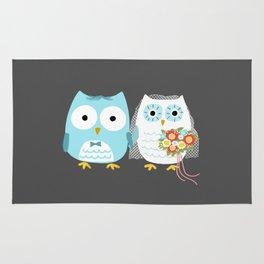 Owls Wedding Day | Bride and Groom Rug
