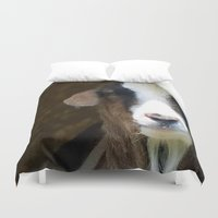 goat Duvet Covers featuring goat by Laura DeFord