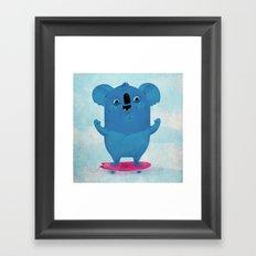 Kickflip Koala Framed Art Print