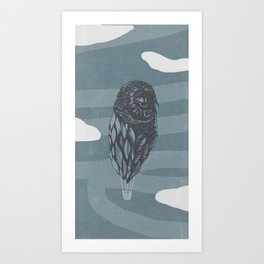 Hot Owl Balloon Art Print