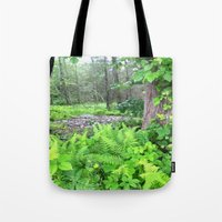abyss Tote Bags featuring Abyss  by Riley Gallagher