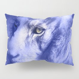 Fantasy Lion of Legend in Blue-Lilac Pillow Sham