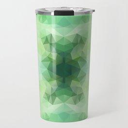 """Fresh greenery"" triangles design Travel Mug"