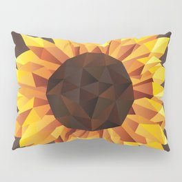 Polygonal Sunflower Pillow Sham