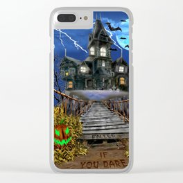 Enter If You Dare Clear iPhone Case