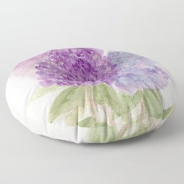 Watercolor Lilacs Spring Garden Flowers Floor Pillow