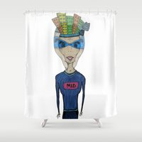 mad Shower Curtains featuring MAD by BNK Design