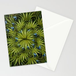"""El Bosco fantasy, tropical island blue butterflies"" Stationery Cards"