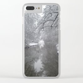 Cold Winter Clear iPhone Case