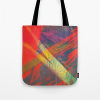 splatter Tote Bags featuring Splatter by Art of the Glitch