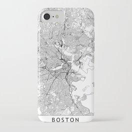 Boston White Map iPhone Case
