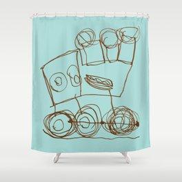 Ben's Monster Trucks no.1 Shower Curtain