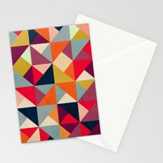 Bright Geometric Happy Pattern Stationery Cards