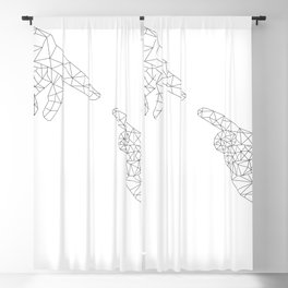 Michelangelo Reloaded (in white) Blackout Curtain