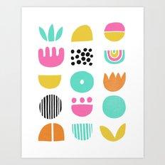 SIMPLE GEOMETRIC 001 Art Print