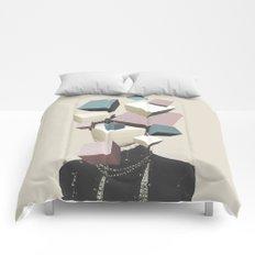 Queen of Cubes Comforters